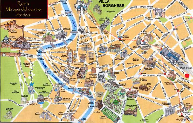 Roma Cartina Turistica Da Stampare.Mappa Monumenti Roma Antica